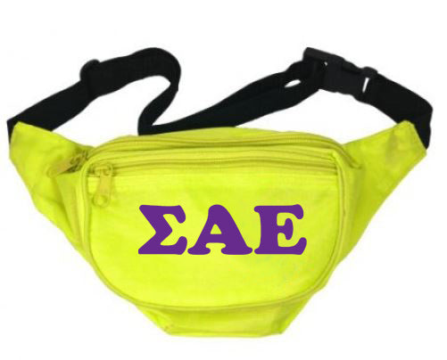 Sigma Alpha Epsilon Letters Layered Fanny Pack