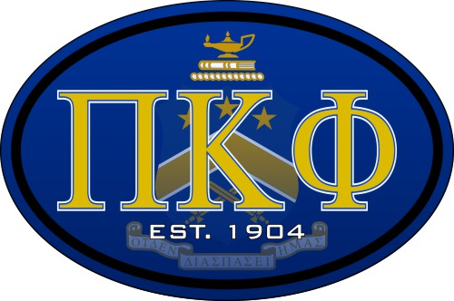 Pi Kappa Phi Color Oval Decal