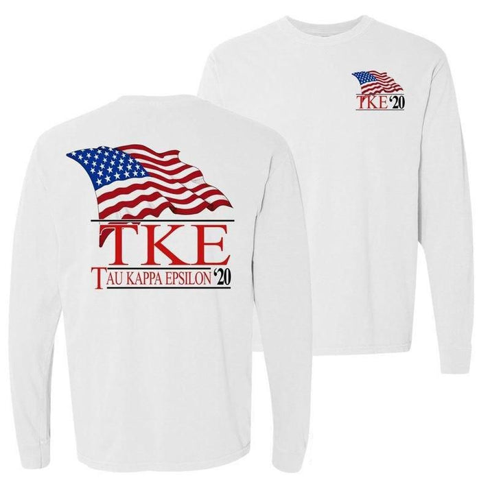 Tau Kappa Epsilon Patriot Flag Comfort Colors Long Tee