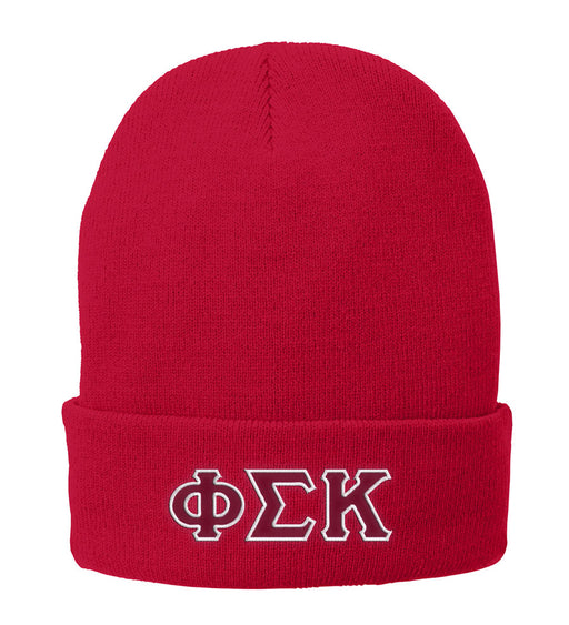 Phi Sigma Kappa Lettered Knit Cap