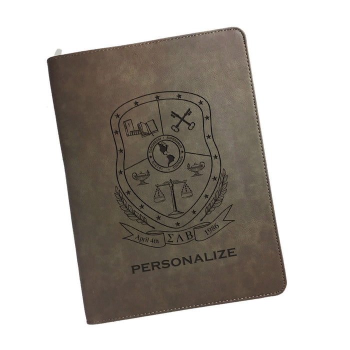 Sigma Lambda Beta Leatherette Portfolio with Notepad