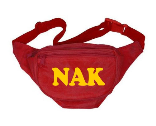 Nu Alpha Kappa Fanny Pack Letters Layered Fanny Pack