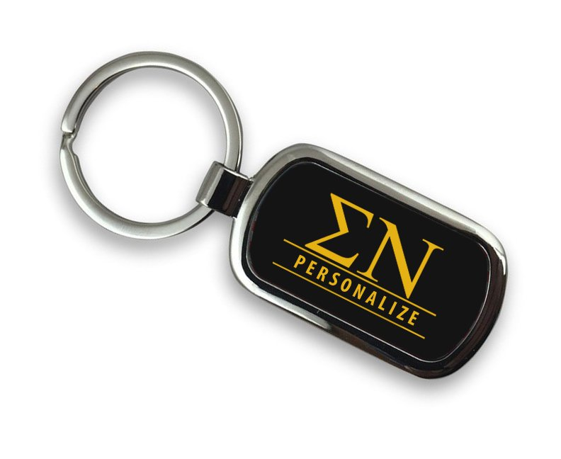 Sigma Nu Chrome Key Chain