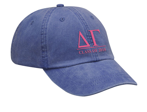 Delta Gamma Embroidered Hat with Custom Text