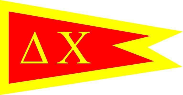 Delta Chi Fraternity Flag Sticker