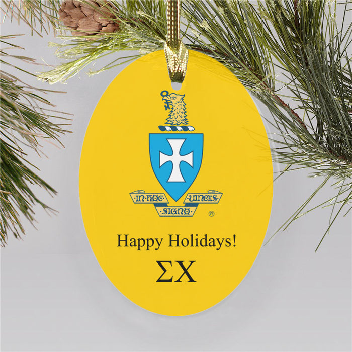 Sigma Chi Color Crest Ornament