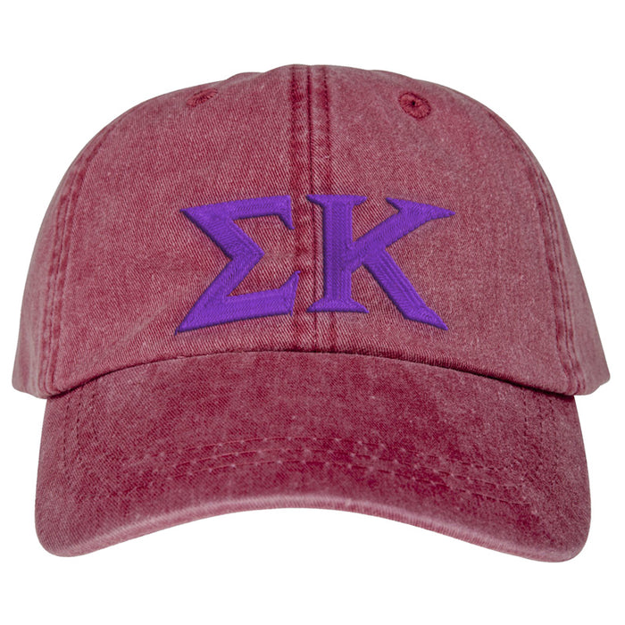 Sigma Kappa Greek Letter Embroidered Hat