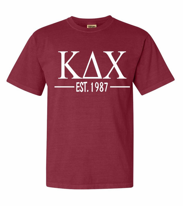 Kappa Delta Chi Comfort Colors Established Sorority T-Shirt
