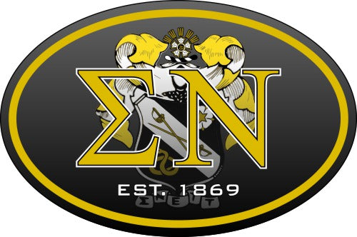 Sigma Nu Color Oval Decal