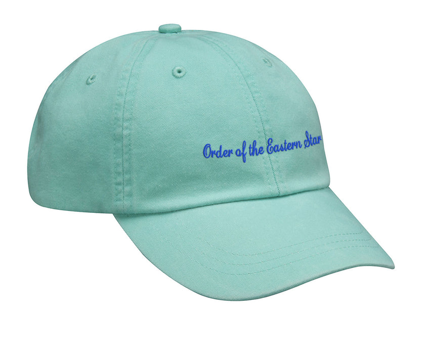 Order Of The Eastern Star Cursive Embroidered Hat