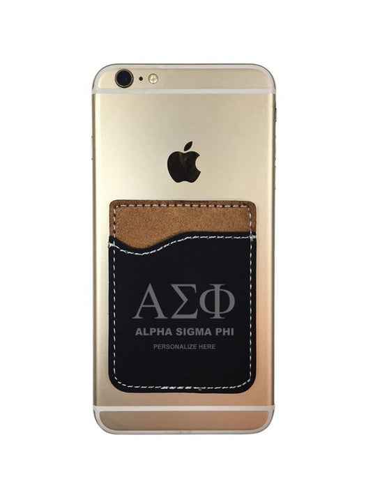 Alpha Sigma Phi Engraved Phone Wallet