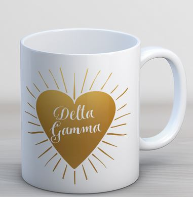 Delta Gamma Heart Burst Coffee Mug