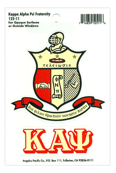 Kappa Alpha Psi Crest Decal