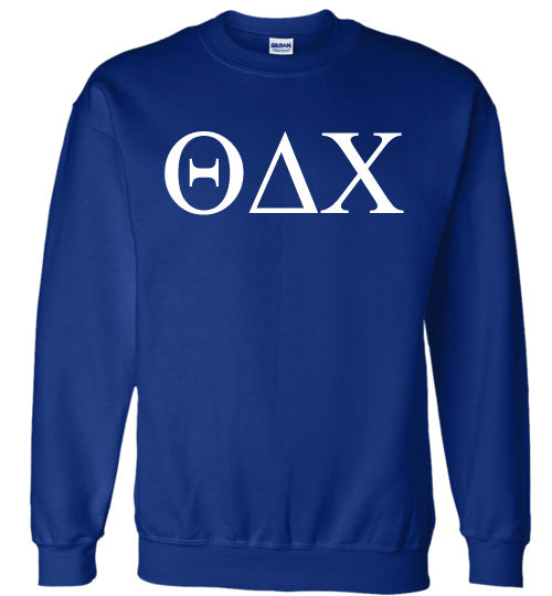 Theta Delta Chi World Famous Lettered Crewneck Sweatshirt