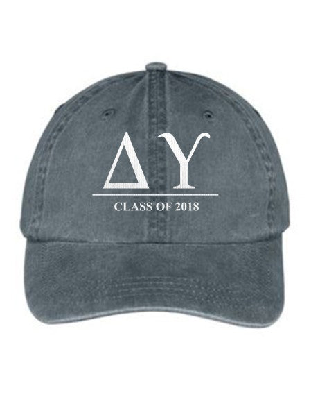 Delta Upsilon Embroidered Hat with Custom Text