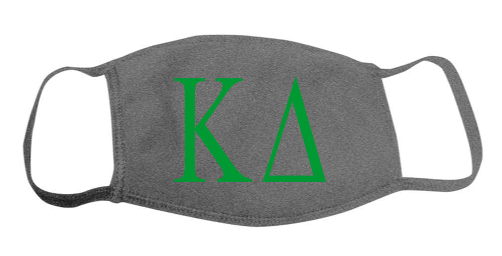 Kappa Delta Face Mask With Big Greek Letters