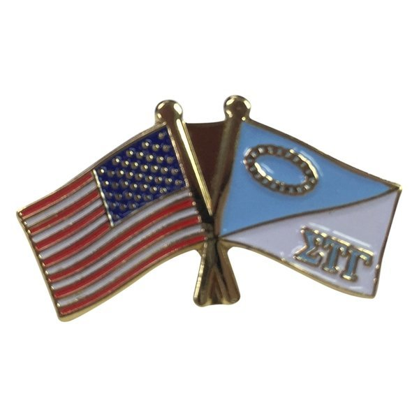 Sigma Tau Gamma USA / Fraternity Flag Pin