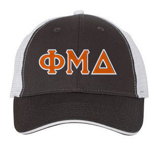 Phi Mu Delta Greek Trucker Cap