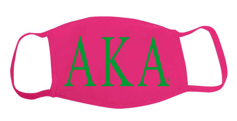 Alpha Kappa Alpha Face Mask With Big Greek Letters