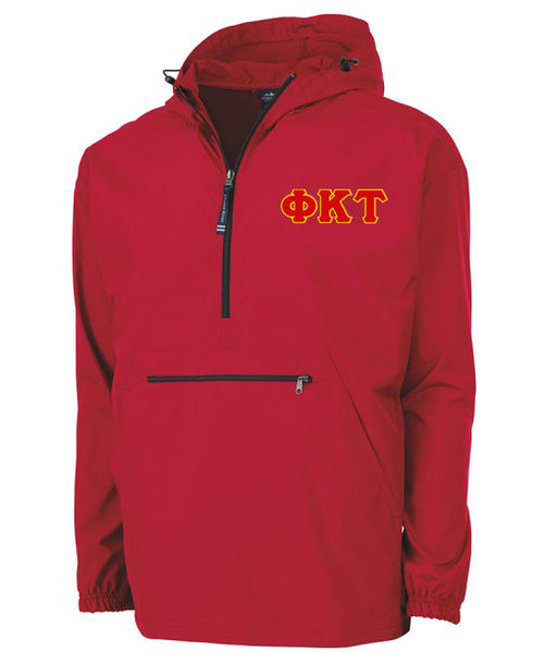 Phi Kappa Tau Embroidered Pack and Go Pullover