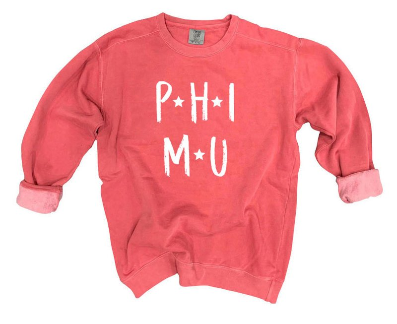 Phi Mu Comfort Colors Starry Nickname Sorority Sweatshirt