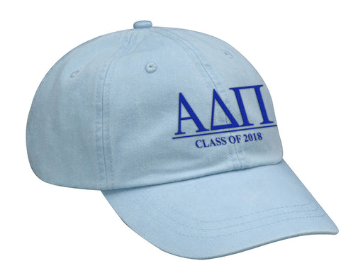 Alpha Delta Pi Embroidered Hat with Custom Text