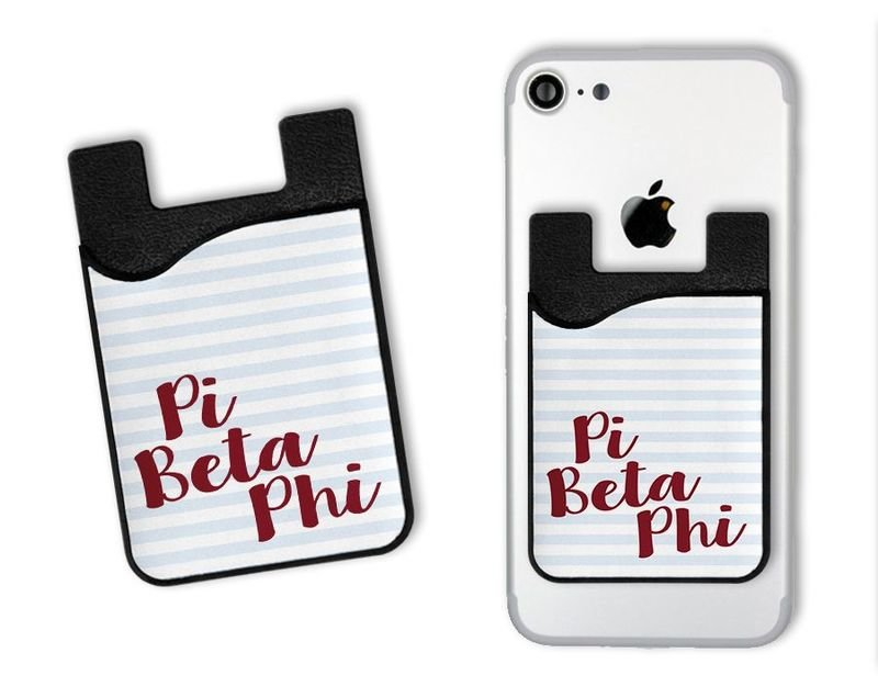 Pi Beta Phi Sorority Stripes Caddy Phone Wallet