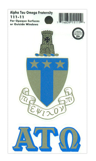 Alpha Tau Omega Crest Decal