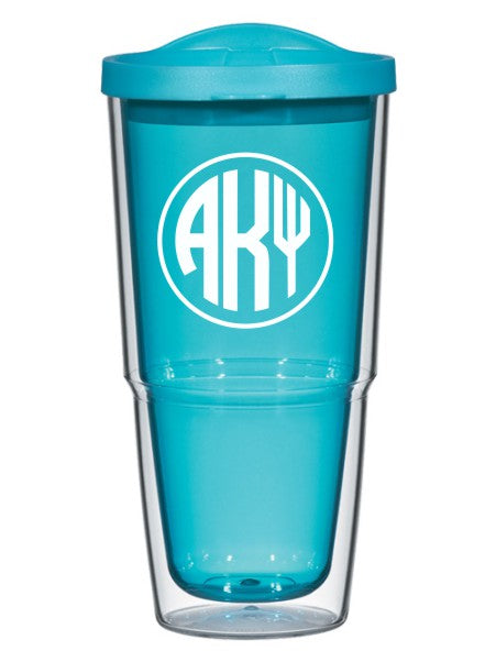 Alpha Kappa Psi Circle Arrows 24 oz Tumbler with Lid