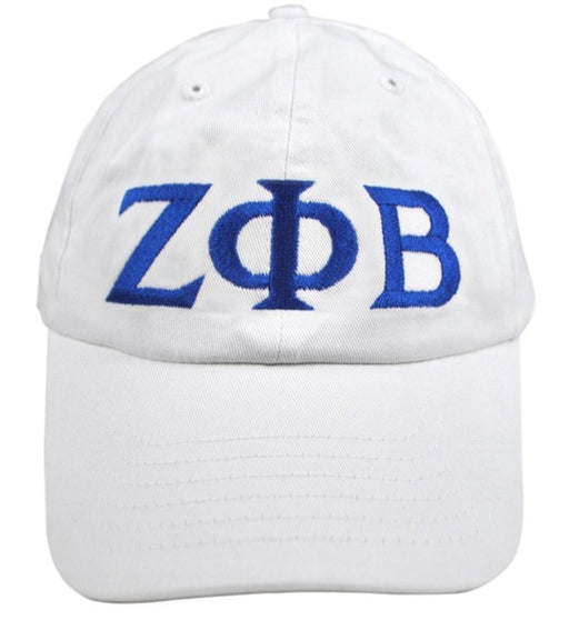 Zeta Phi Beta Greek Letter Embroidered Hat