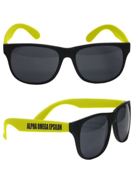 Alpha Omega Epsilon Neon Sunglasses