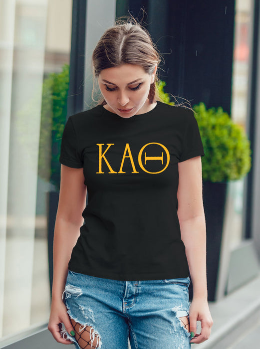 Kappa Alpha Theta University Letter T-Shirt