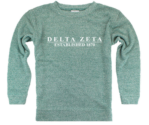 Delta Zeta Year Established Cozy Sweater