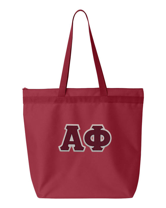 Alpha Phi Greek Lettered Game Day Tote