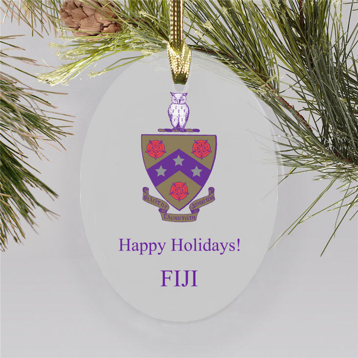 Fiji Color Crest Ornament