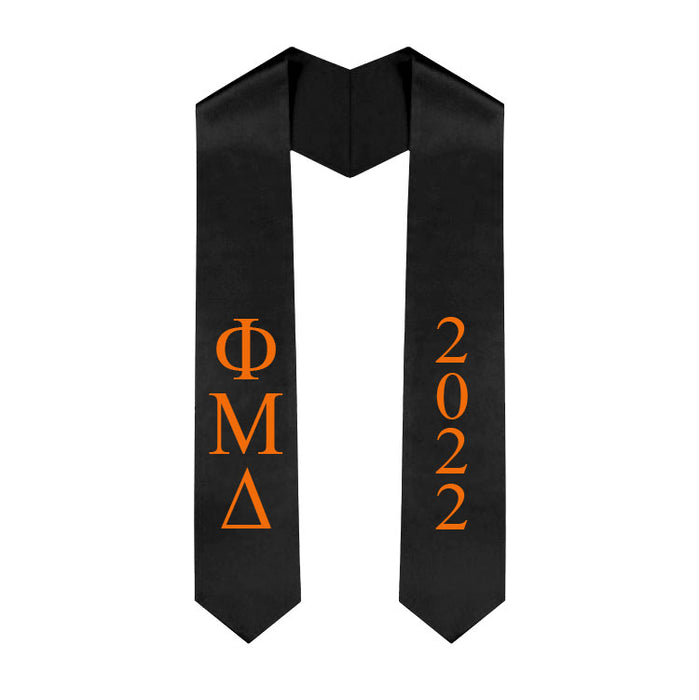 Phi Mu Delta Vertical Grad Stole with Letters & Year