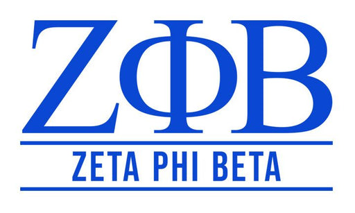 Zeta Phi Beta Custom Greek Letter Sticker - 2.5