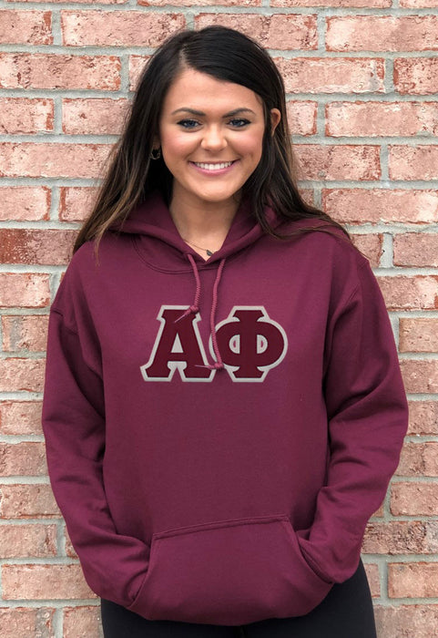 Alpha Phi Lettered Hoodie