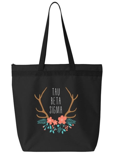 Tau Beta Sigma Antler Tote Bag