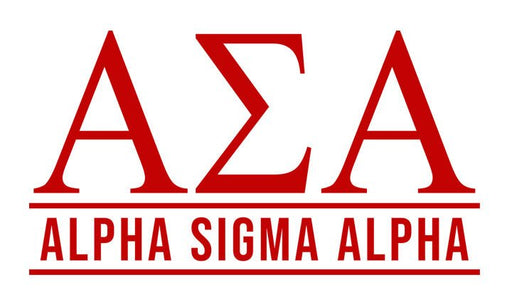 Alpha Sigma Alpha Custom Greek Letter Sticker - 2.5