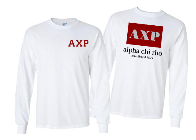 Alpha Chi Rho Long Sleeve Flag Tee