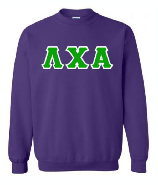 Lambda Chi Alpha Classic Colors Sewn-On Letter Crewneck