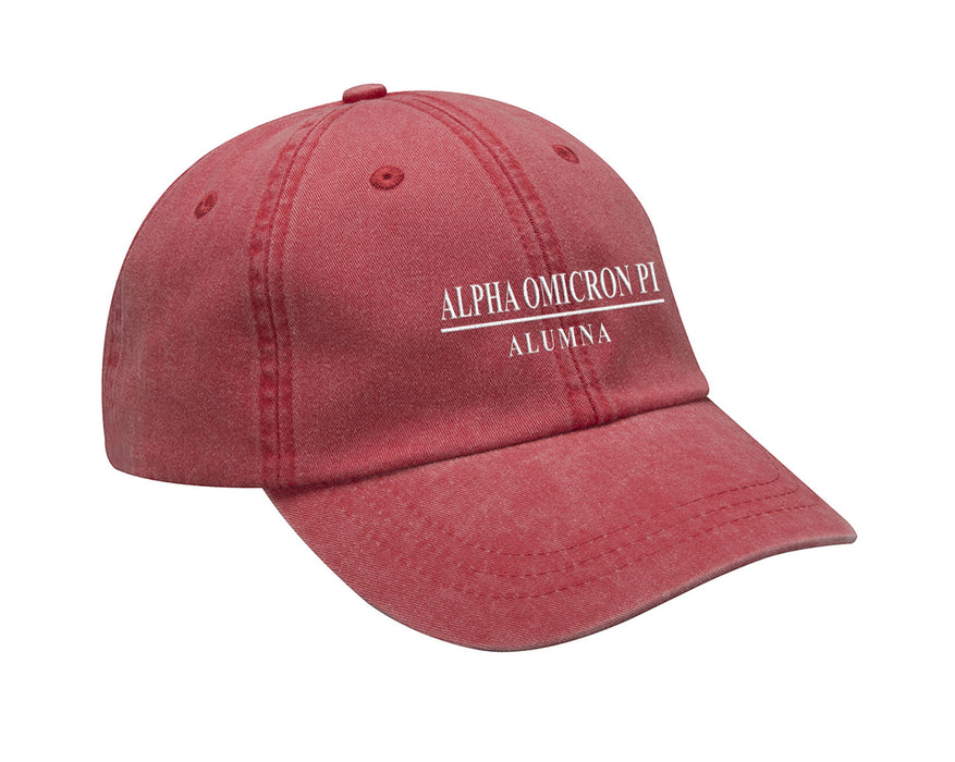 Alpha Omicron Pi Line Year Embroidered Hat
