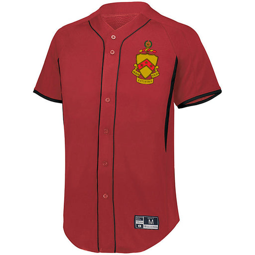 Phi Kappa Tau 7 Full Button Baseball Jersey