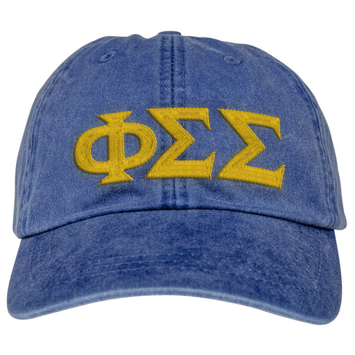Phi Sigma Sigma Greek Letter Embroidered Hat