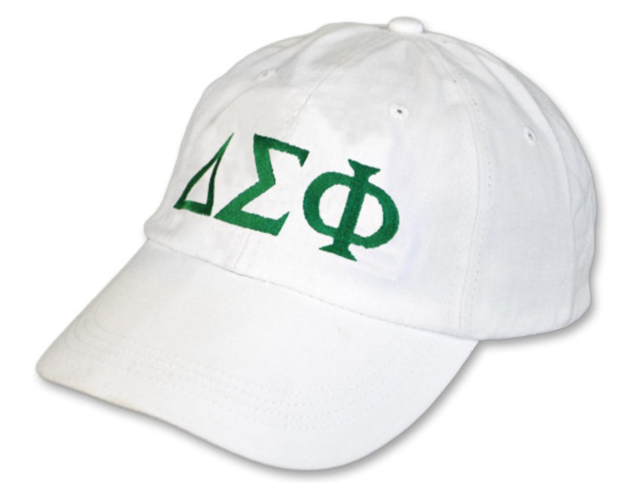 Delta Sigma Phi Greek Letter Embroidered Hat