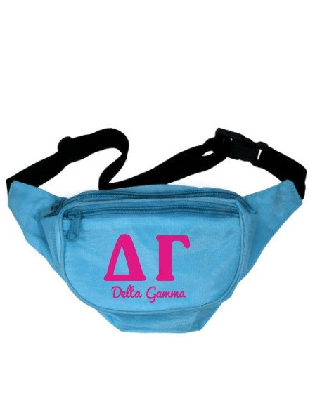 Delta Gamma Letters Layered Fanny Pack