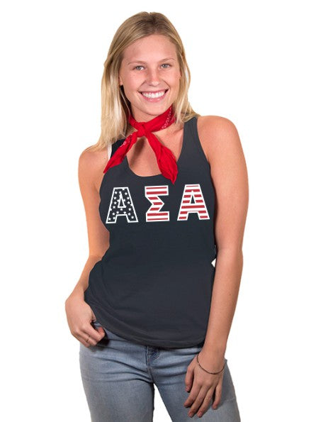 Alpha Sigma Alpha All American Poly-Cotton Tank