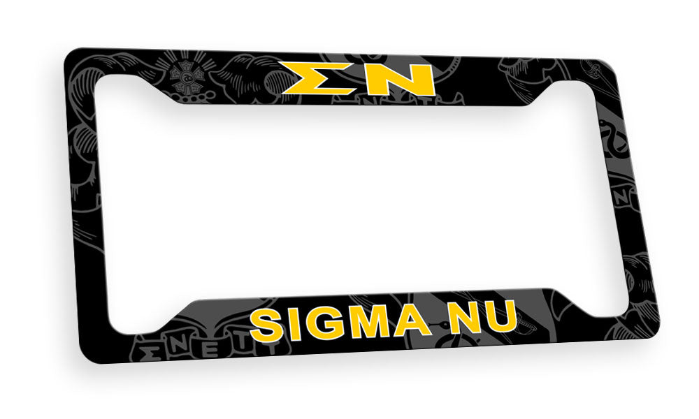Sigma Nu New License Plate Frame