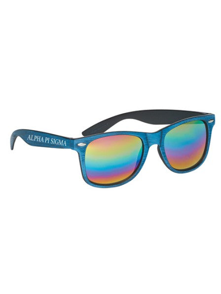 Alpha Pi Sigma Woodtone Malibu Roman Name Sunglasses